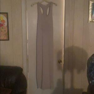 Women's Gray Long Cotton Dress Size L